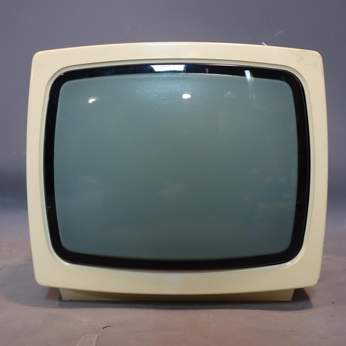 35 - A vintage portable TV by Bruns model Funny S, H.28 W.31 D.30cm...