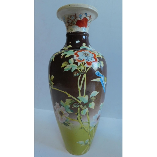18 - A collection of 4 Oriental ceramic vases, to include a Satsuma vase. 38x16cm....