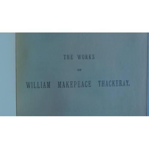 31 - The Works of William Makepeace Thackeray, in 13 volumes. H.19 W.13 D.3.5cm...