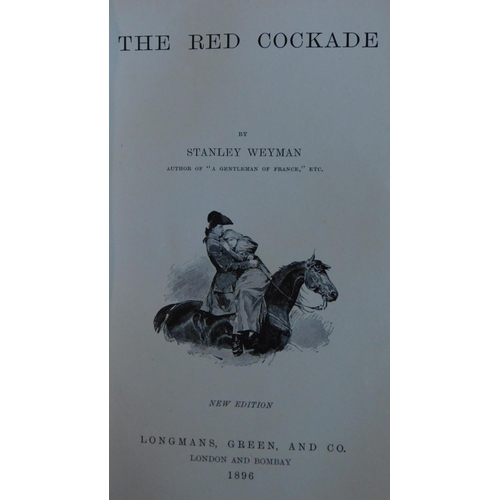 32 - Stanley J. Weyman collection of 11 of his books, to include 'Under the red robe', originally publish...