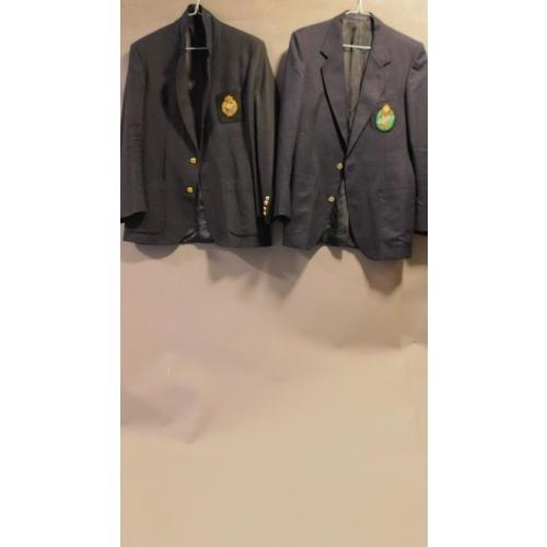 39 - Two men's Burberrys blazers in navy blue, size M....