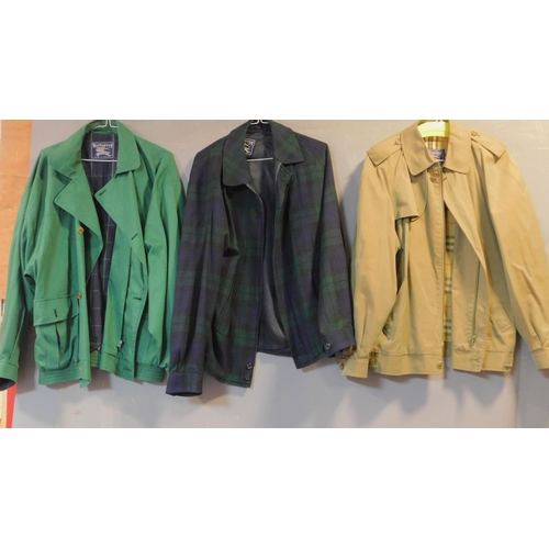 44 - Three various men's Burberrys jackets, size M....