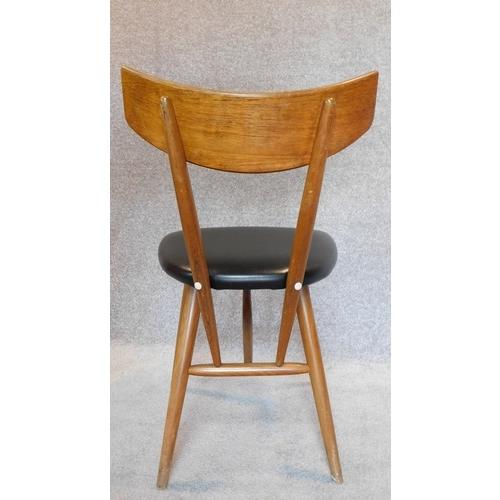 48 - A set of four mid 20th century vintage Danish teak Unicorn dining chairs. H.84...