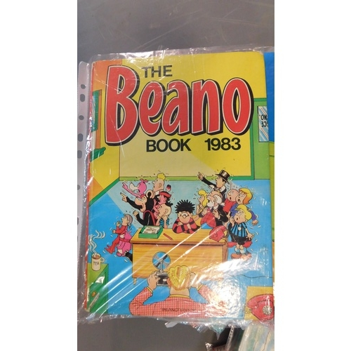 1 - A collection of twenty seven vintage Beano annuals. 1966, 1973-76, 1980-89, 1981-83 (repeats) 1991-1...