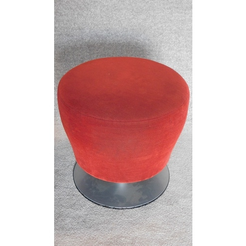 43 - A pair of Orangebox mushroom stools. H.48cm...