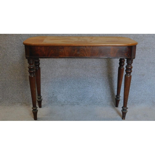 16 - A 19th century mahogany side table with associated top. 70x94x46cm...