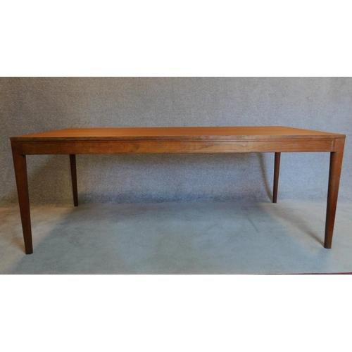 85 - A 1960's Danish teak dining table designed by Finn Juhl for the France and Son Diplomat range. 73x19...