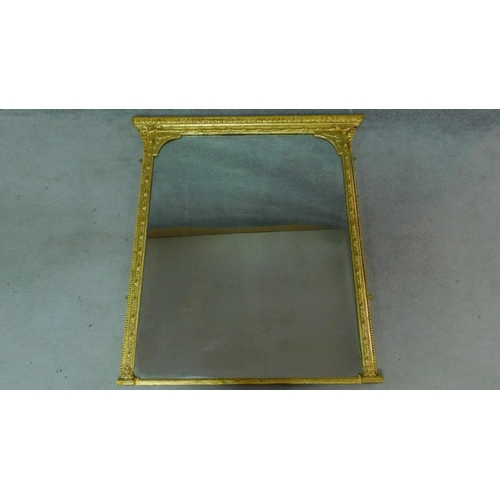 169 - A 19th century overmantel mirror in decorative gilt frame. 132x121cm...