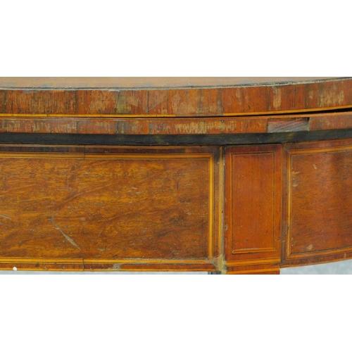 13 - A Georgian mahogany tea table raised on tapering square legs. H.73 W.92 D.90cm...