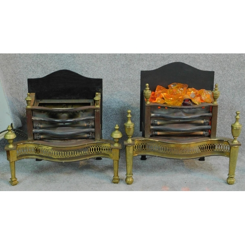 35 - Two vintage electric heaters in Regency style, both in working order. H.57 W.56 D.33cm...
