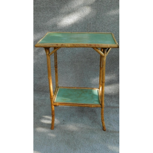45 - Two late 19th century bamboo occasional tables. H.70 W.53 D.37cm...