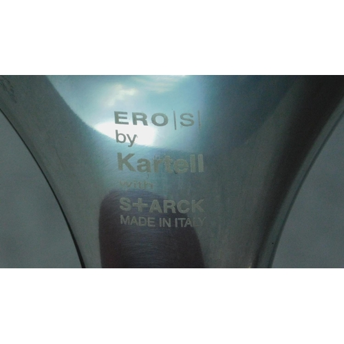 39 - A pair of Vintage black chairs on chrome frame, by Ero (S) Kartell. H.83cm...