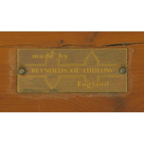 44 - A vintage natural form yew wood bench by Reynolds of Ludlow. H.40 W.74 D.37cm...