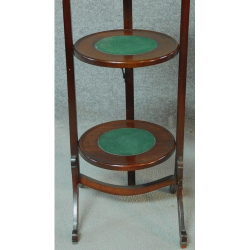 20 - A Victorian mahogany three tier folding cake stand H.92cm...
