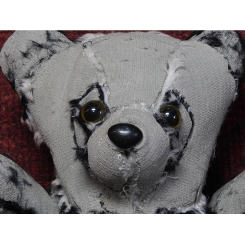 54 - A concrete and mixed material teddy bear sculpture by Canadian artist Ross Bonfanti. Signed and date...
