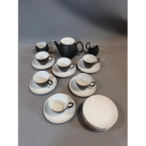 16 - A Raymond Loewy 'Charcoal' Continental tea service. Tallest H12cm....