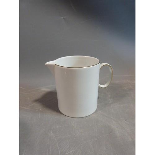17 - A white porcelain Thomas Germany gilded coffee set. H 22.5cm.