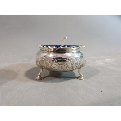 6 - A silver floral cruet set. Hallmarked: CSG & Co. for Charles S Green & Co Ltd, Birmingham, 1954. Not...