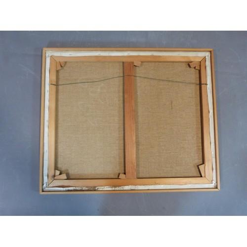 206 - A framed oil on canvas of 'Pont Neuf de Paris'. Signed J. Warner. 74x61...