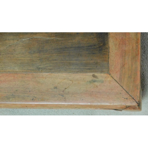 91 - A Chinese hardwood low coffee table. H.23 W.80 D.44cm...