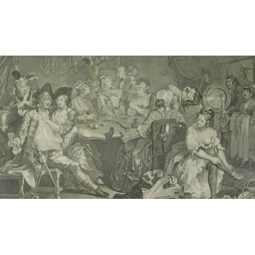 268 - A set of eight 19th century framed and glazed Hogarth engravings. 43x49cm