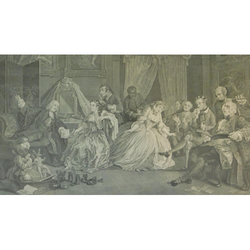 269 - A set of six 19th century framed and glazed engravings by William Hogarth. 46x54cm...