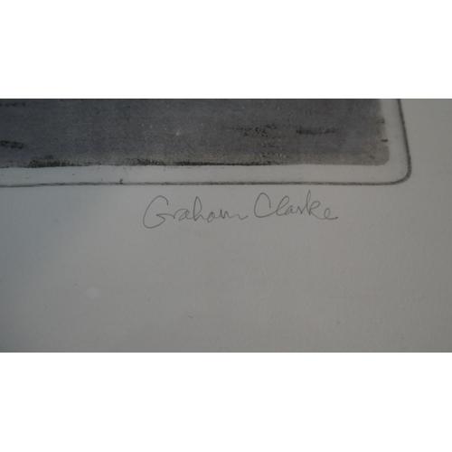 15 - Graham Clarke (b.1941) a framed and glazed signed limited edition woodcut. 'Archipelago', edition 21...