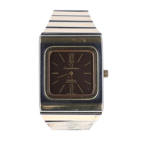 5 - Omega Constellation automatic bicolour stainless steel gentleman's bracelet watch, ref. 155.0021, ci...