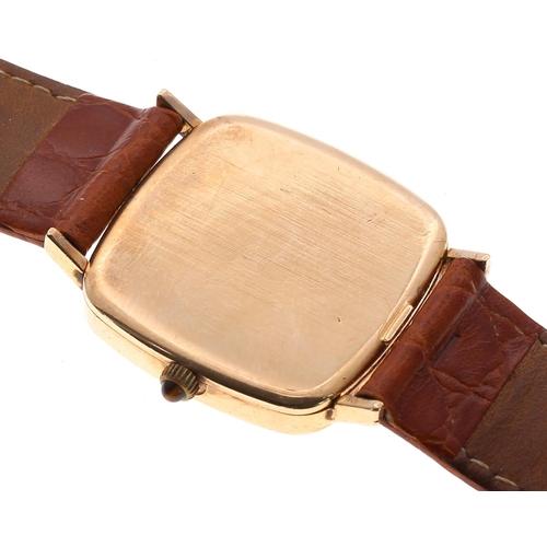 6 - Omega De Ville 9ct gentleman's wristwatch, ref. 111 5490, circa 1974, serial no. 38791177, square gi...