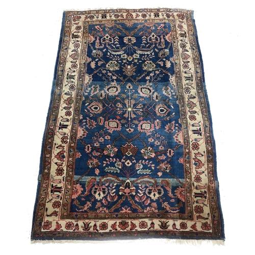 "Persian Farahan antique rug, 63"" x 40"" approx"