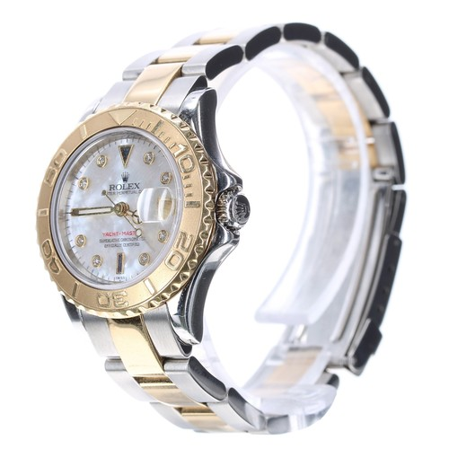 29 - Rolex Oyster Perpetual Date Yacht-Master stainless steel and gold lady's bracelet watch, ref. 169623...