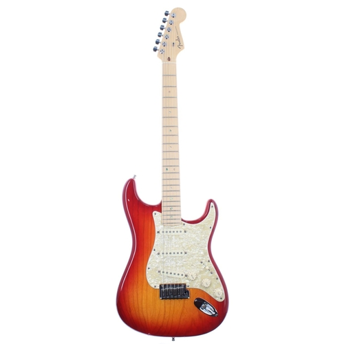 12 - 2007 Fender American Deluxe Stratocaster electric guitar, made in USA, ser. no. DZ7xxxxx1; Finish: S...