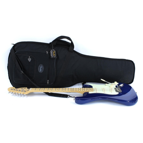 20 - 2018 Fender Deluxe Stratocaster electric guitar, made in Mexico, ser. no. MX18xxxxx2; Finish: Sapphi...