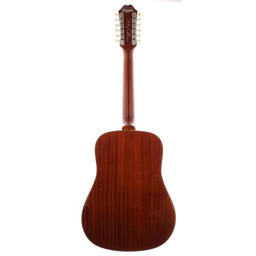 32 - 2009 Epiphone Limited Edition Roy Orbison 'Oh Pretty Woman' FT-112 Bard twelve string acoustic guita...