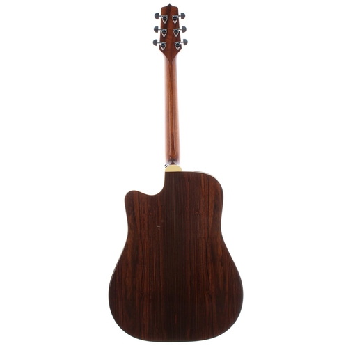 39 - Takamine EF300PS electro-acoustic guitar, made in Japan, ser. no. 09xxxxx8; Back and sides: laminate...