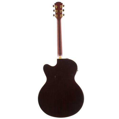 41 - 2005 Yamaha LJX6C electro-acoustic guitar, made in Taiwan, ser. no. QLX2xxxx2; Back and sides: rosew...