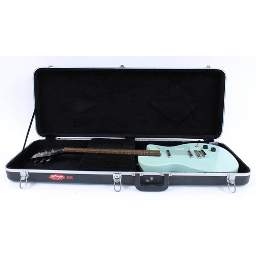 47 - Danelectro Dano 56 electric guitar, made in Korea, ser. no. 0xxxx1; Finish: light blue, blemish to t...
