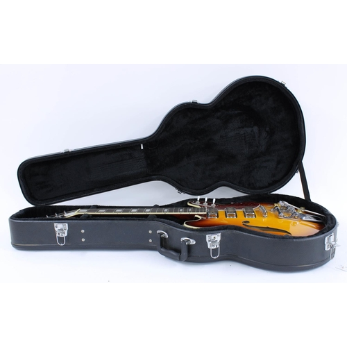 49 - 2016 Eastwood Airline H78 semi-hollow body electric guitar, made in China, ser. no. 16xxxxx7; Finish...