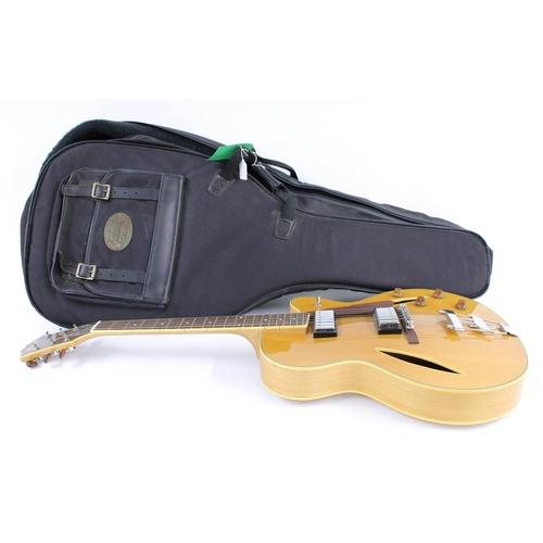 55 - 2001 Cort Joe Beck 6 hollow body electric guitar, made in Korea, ser. no. 01xxxxx6; Finish: natural;...