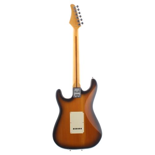 57 - Hohner Professional ST57 electric guitar; Finish: two-tone sunburst, a few minor blemishes; Fretboar...
