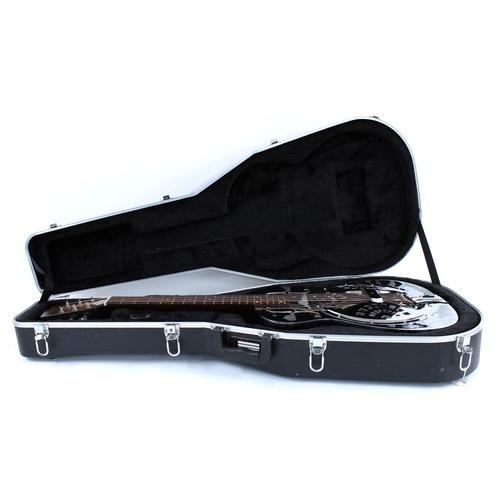 59 - Dobro DM33H resonator guitar, made in USA, circa 1988, ser. no. S12xxxxxB; Finish: chrome plated wit...