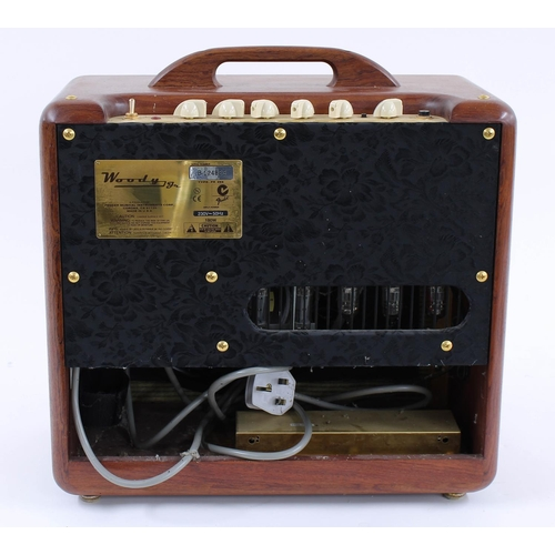 603 - Fender Woody Jr guitar amplifier, made in USA, ser. no. B-124823