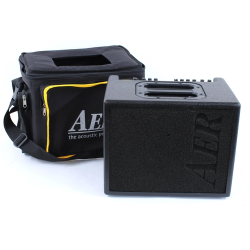 616 - AER Compact 60/2 twin channel acoustic guitar amplifier, with original gig bag