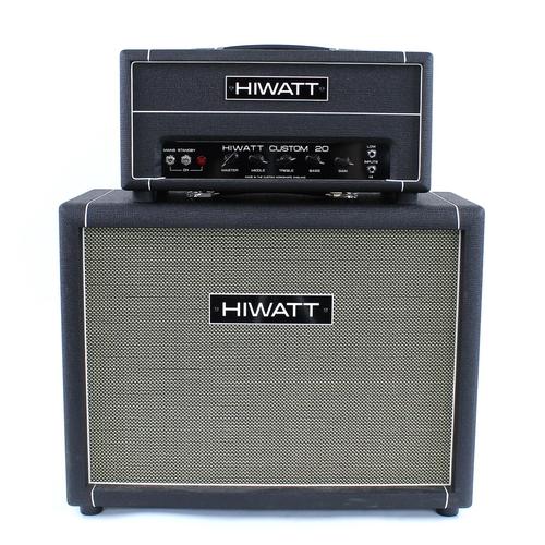 621 - 2020 Hiwatt Custom 20 handwired guitar amplifier head, ser. no. CA9048; together with a matching 2 x...