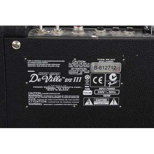 631 - Fender Hot Rod De Ville 212/3 2 x 12 guitar amplifier, made in Mexico, ser. no. B-612712