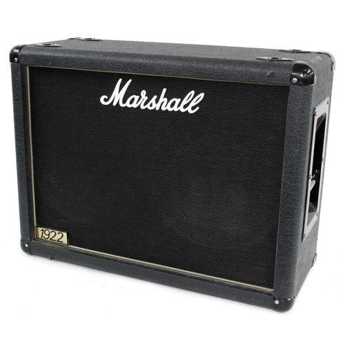 641 - 2003 Marshall 1922 2 x 12 guitar amplifier speaker cabinet, made in England