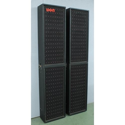 644 - Watkins WEM PA100 amplifier with a matching set of four 3 x 8