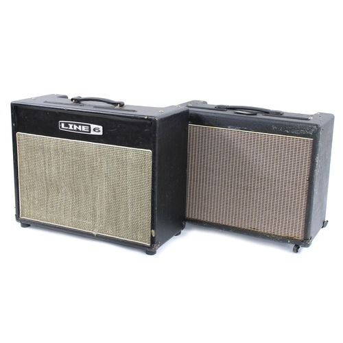 654 - Line 6 Flextone II guitar amplifier; together with a Line 6 Flextone III guitar amplifier in need of...