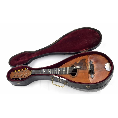1203 - Rare Neapolitan style split table mandolin labelled Mandoline 'Gelis'... J.R- Paris, no. 5190, 1926 ...