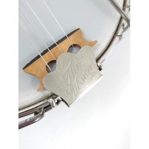 1225 - Gibson TB4 Trapdoor tenor banjo, made in USA, circa 1925, case